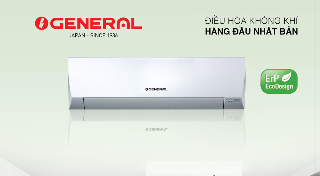Điều  hòa General  12.000BTU 1chiều inveter ga410  model ASGA 12BMTA