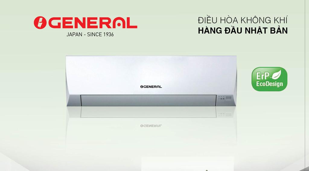 Điều  hòa General  18.000BTU 1chiều inveter ga410  model ASGA 18BMTA